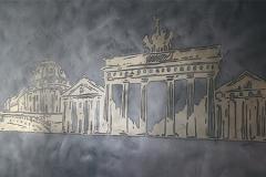 Mineralische Wandgestaltung des Brandenburger Tor