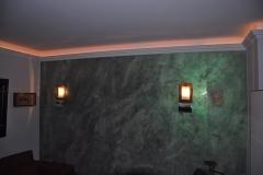 grüne dekorative Wandgestaltung